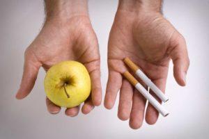 Otkaz ot sigaret i dieta